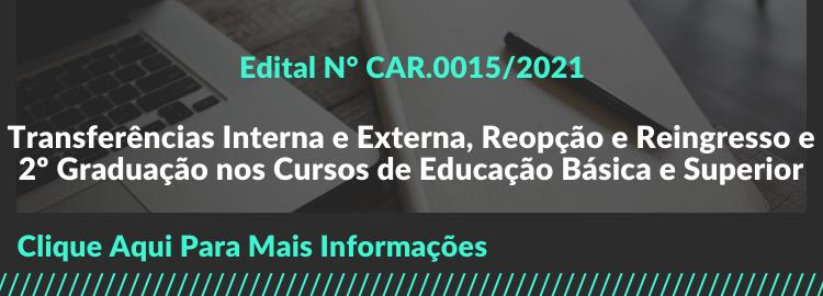 Edital Nº CAR.0015/2021